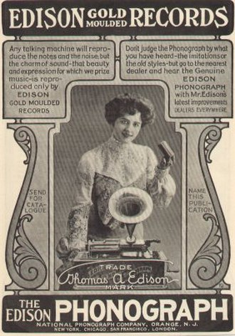 Edison Records - 1903 advertisement