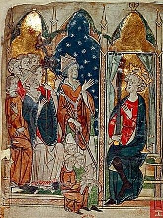 Sandwell Priory - Edward I and clerics.