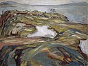 Edvard Munch, 1918, Coastal Landscape, oil on canvas, 120.9 x 160 cm, Kunstmuseum Basel.jpg