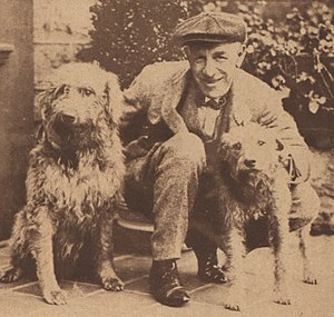 Edward Bok - Edward Bok with dogs
