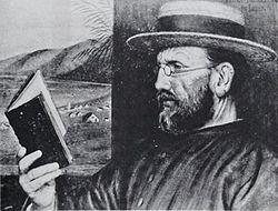 Damján atya 1888-ban, Edward Clifford festménye