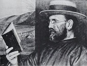 St Damien of Molokai famously established a mission among the lepers of Molokai, Hawaii. Edward Clifford - Damien in 1888.jpg