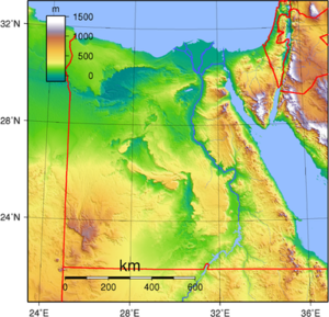 Climate of Egypt - Topography map