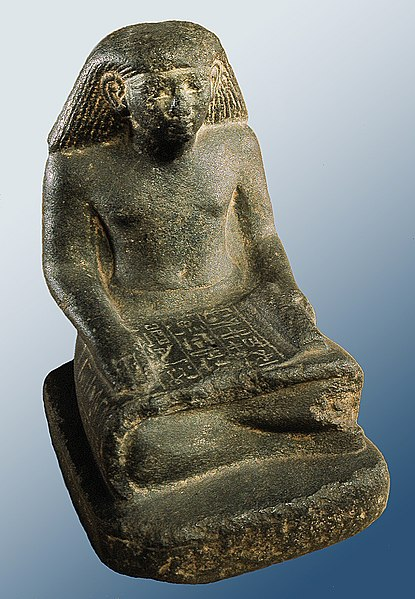 File:Egyptian - Scribe Statue of Min-nakht - Walters 22230 - Three Quarter.jpg
