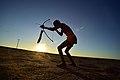 Elia Fester, Kalahari Khomani San Bushman, Boesmansrus camp, Northern Cape, South Africa (19919305244).jpg