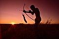 Elia Fester, Kalahari Khomani San Bushman, Boesmansrus camp, Northern Cape, South Africa (20547690861).jpg