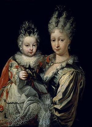 Elisabeth Farnese - Elisabeth with her eldest son Charles.