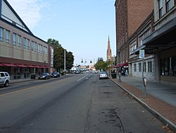 Skyline of Elmira, New York