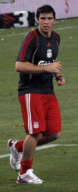 Emiliano Insúa - Insua with Liverpool in August 2009