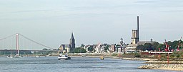 Emmerich am Rhein, view from the east to the riverside