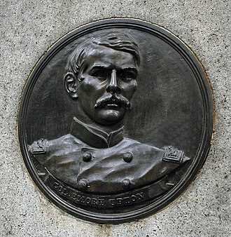 Emory Upton - Emory Upton depicted on the 121st New York Infantry Regiment monument at Gettysburg National Military Park.
