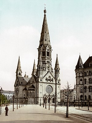 Kaiser Wilhelm Memorial Church - The old church around 1900