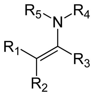 Enamine class of chemical compounds