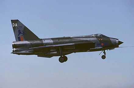 Lightning F.3 in flight, 1983 - English Electric Lightning