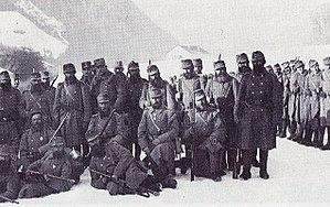 Standschützen - Standschützen from Enneberg with their CO, Major Kostner