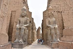 Luxor Temple - Closeup of temple entrance