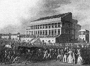 Epsom Downs Racecourse - Image: Epsom Grandstand 1830s