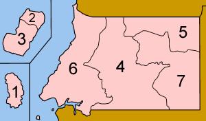 Equatorial Guinea provinces numbered