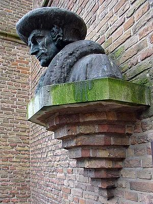 Erasmus - Bust by Hildo Krop (1950) at Gouda, where Erasmus spent his youth