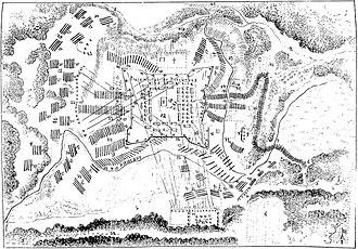 Battle of Piribebuy - Sketch of the town of Piribebuy.