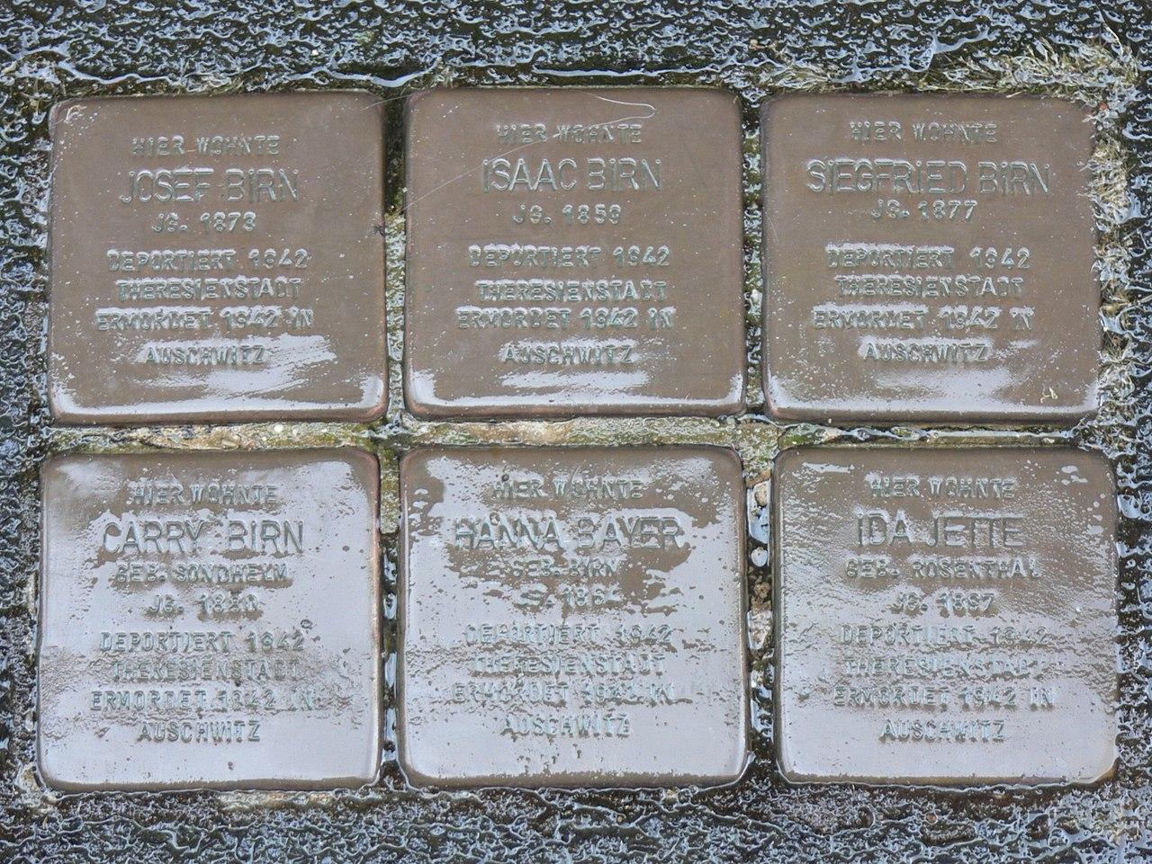 Estenfeld Stolpersteine Familie Birn.jpg