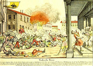 Bucharest - Ottoman massacre of Greek irregulars in Bucharest (August 1821)