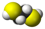 Space-filling model of ethane-1,2-dithiol