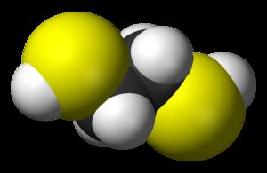 1,2-Ethanedithiol - Image: Ethane 1,2 dithiol 3D vd W