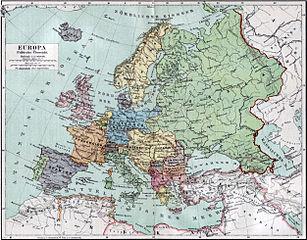 Politische Karte Europas im Jahre 1919