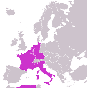 European Defence Community - Countries that would have formed the European Defence Community according to the Pleven Plan