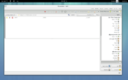 Evolution 3.8.0 Hebrew in GNOME 3.8.png