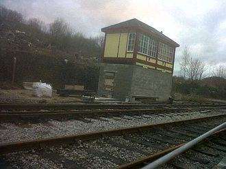 Peak Rail - Ex-Luffenham signalbox at Matlock Riverside