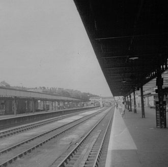 Exeter Central railway station - There were four tracks through the station until 1969