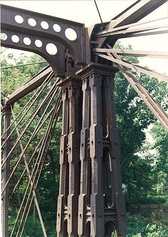 Bollman Truss Railroad Bridge - Image: Existing Bridge Upper Cords