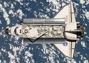 Space Shuttle Atlantis as seen from the Intern...