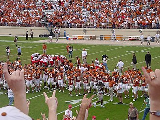 The Eyes of Texas - UT Students and Football players singing The Eyes of Texas after a win versus Nebraska