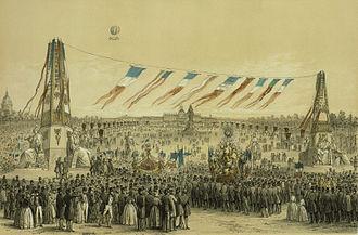 Champ de Mars - Image: Fête de la Concorde, arrivée des corporations au Champ de Mars