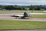 F-22 Raptor takeoff at RAF Fairford July 2016.jpg