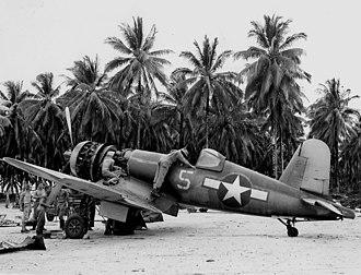 Nissan Island Airport - F4U-1A Corsair of VF-17 on Green Island in 1944