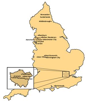 FA Clubs Map