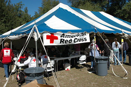 ARC is set up in a community hard hit by the tornadoes, Florida, 2007 FEMA - 28112 - Photograph by Mark Wolfe taken on 02-06-2007 in Florida.jpg