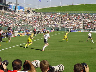 Germany women's national football team - Germany playing Sweden in the 2003 Women's World Cup final.