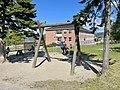 FRYAL SKOLE Søndre Land kommune, Norway. Barn leker husker vipper sykler Skolegård uteområde Randsfjorden Sol (School Children Sunny ) 2021-06-02 IMG 2059.jpg