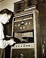 Factory broadcast equipment, Norfolk Naval Shipyard, Norfolk, Virginia, 1941 (26336670702).jpg