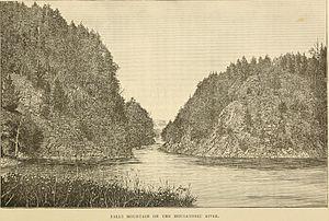 Golden Hill Paugussett Indian Nation - Image: Falls Mountain on the Housatonic River 1886