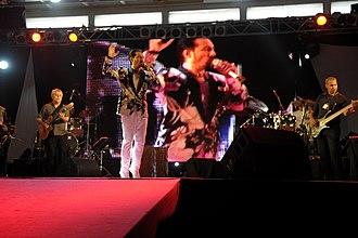 Pashto music - Farhad Darya performing at a concert in Kabul, Afghanistan.