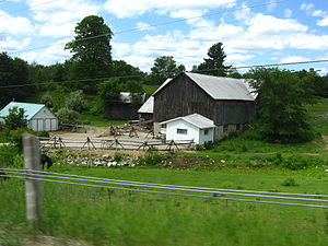 Agriculture in Canada - Farm yard in summer