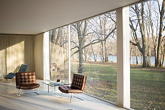 Farnsworth House - Image: Farnsworth House by Mies Van Der Rohe interior