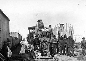 Province of Santa Fe Railway - Workers of the railway, 1897.