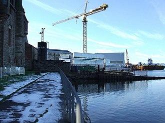 Ferguson Marine Engineering - Newark Castle to the left, adjacent to Ferguson's shipyard.